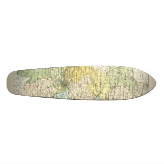 Vintage Map of Dublin and Surrounding Areas (1900) Skateboard