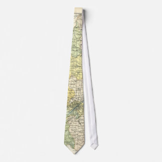 Vintage Map of Dublin and Surrounding Areas (1900) Tie