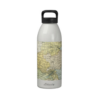 Vintage Map of Dublin and Surrounding Areas (1900) Reusable Water Bottles