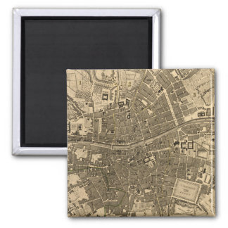 Vintage Map of Dublin Ireland (1797) 2 Inch Square Magnet