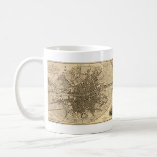 Vintage Map of Dublin Ireland (1797) Coffee Mug