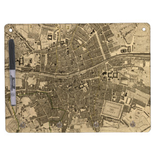 Vintage Map of Dublin Ireland (1797) Dry Erase Board