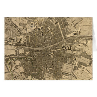 Vintage Map of Dublin Ireland (1797) Greeting Card