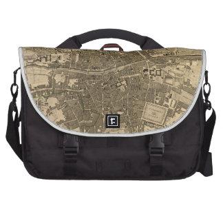 Vintage Map of Dublin Ireland (1797) Laptop Messenger Bag
