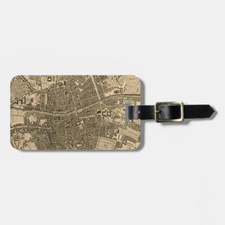 Vintage Map of Dublin Ireland (1797) Travel Bag Tag