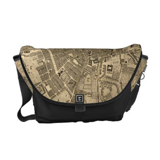 Vintage Map of Dublin Ireland (1797) Courier Bag