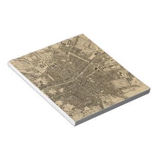 Vintage Map of Dublin Ireland (1797) Scratch Pad