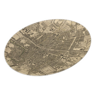 Vintage Map of Dublin Ireland (1797) Plate