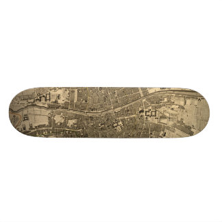 Vintage Map of Dublin Ireland 1797 Skate Deck