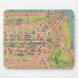 Vintage Map of Edinburgh Scotland (1935) Mouse Pad