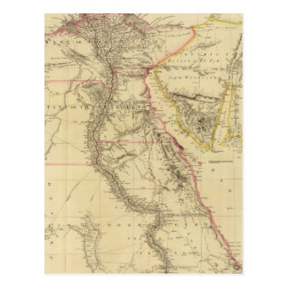 Vintage Map of Egypt 1832 Post Cards