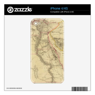 Vintage Map of Egypt (1832) Decals For iPhone 4