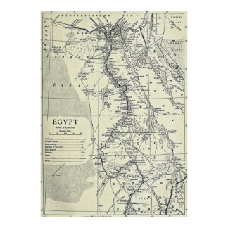 Vintage Map of Egypt (1911) Poster