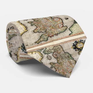 Vintage Map of England (1596) Tie
