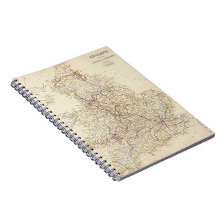 Vintage Map of England (1837) Notebook