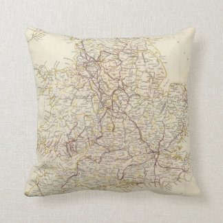 Vintage Map of England (1837) Pillow