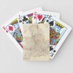 Vintage Map of England (1837) Poker Deck