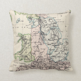 Vintage Map of England (1892) Throw Pillow