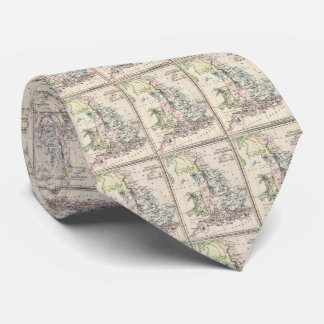 Vintage Map of England (1892) Tie