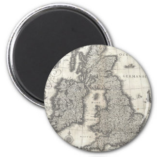 Vintage Map of England and Ireland (1631) 2 Inch Round Magnet