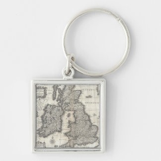 Vintage Map of England and Ireland (1631) Keychain