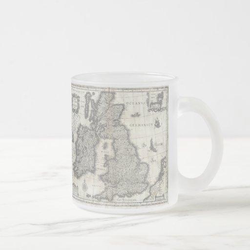 Vintage Map of England and Ireland (1631) Mug