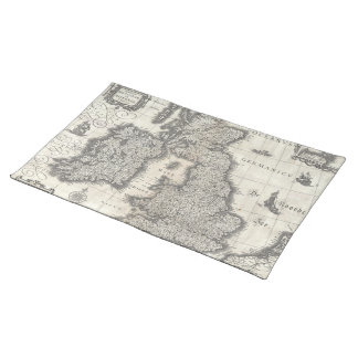 Vintage Map of England and Ireland (1631) Placemat