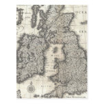 Vintage Map of England and Ireland (1631) Postcard
