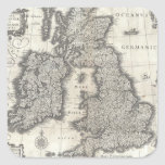Vintage Map of England and Ireland (1631) Sticker