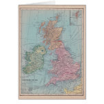 Vintage Map of England Greeting Card