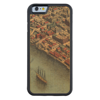 Vintage Map of Eureka California Carved® Maple iPhone 6 Bumper Case