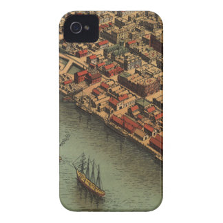 Vintage Map of Eureka California iPhone 4 Case