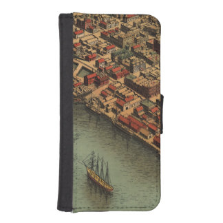Vintage Map of Eureka California Wallet Phone Case For iPhone SE/5/5s