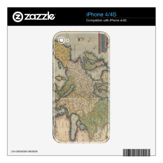 Vintage Map of Europe (1570) iPhone 4S Skins