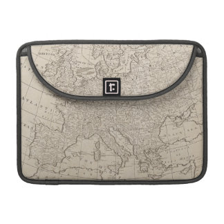 Vintage Map of Europe (1800) Sleeve For MacBook Pro