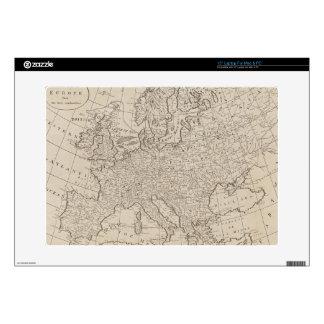 """Vintage Map of Europe (1800) 15"""" Laptop Skins"""