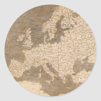 Vintage Map of Europe (1804) Classic Round Sticker