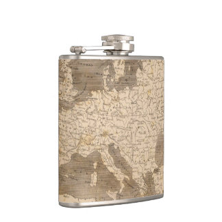 Vintage Map of Europe (1804) Flask