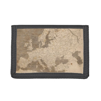 Vintage Map of Europe (1804) Tri-fold Wallet
