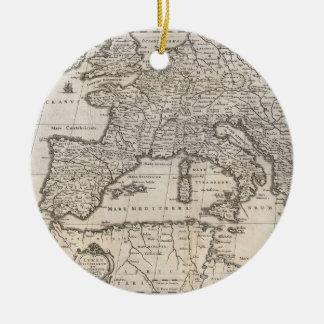 Vintage Map of Europe (1852) Ceramic Ornament