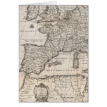 Vintage Map of Europe (1852) Greeting Cards