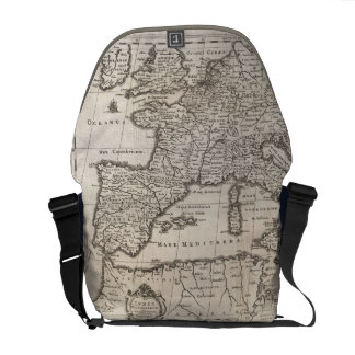Vintage Map of Europe (1852) Commuter Bags