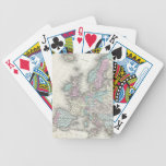Vintage Map of Europe (1855) Bicycle Playing Cards