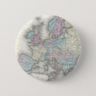 Vintage Map of Europe (1855) Button