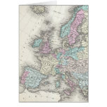 Vintage Map of Europe (1855) Greeting Cards