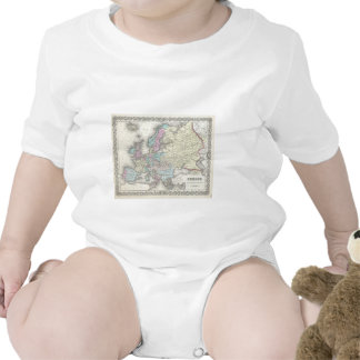 Vintage Map of Europe (1855) Tee Shirt