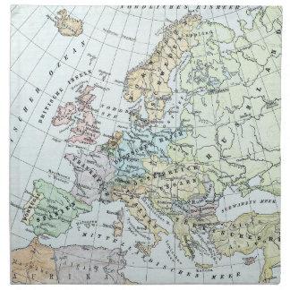 Vintage Map of Europe (1899) Cloth Napkin