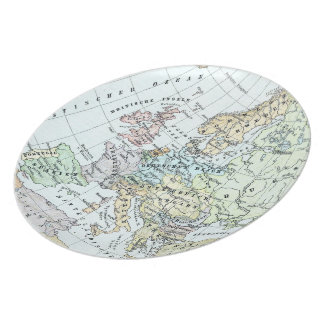 Vintage Map of Europe (1899) Dinner Plate
