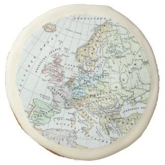 Vintage Map of Europe (1899) Sugar Cookie