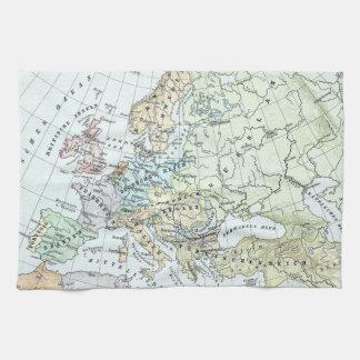 Vintage Map of Europe (1899) Towel